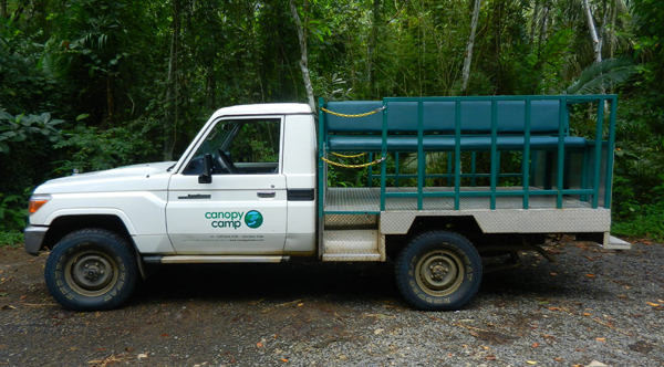 At Canopy Camp we have a specially modified vehicle to offer you the best views of the birdlife of the Darién