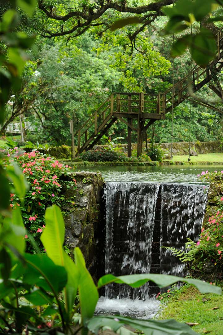 Natural pool and waterfall Canopy Lodge Panama